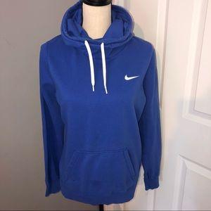 Nike Blue Cowl Neck Hoodie